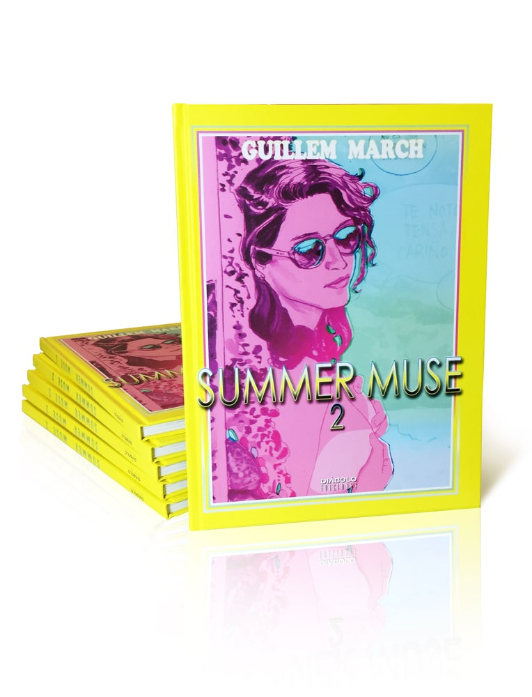 Image of SUMMER MUSE II with ORIGINAL COLOR DRAWING inside