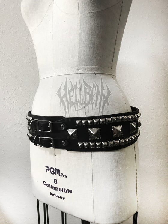 Image of Hellbent Large Studded Leather Belt - Limited run only 3 available