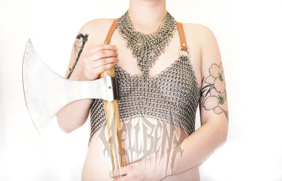 Image of Hellbent Herfjötur Chainmaille Crop Top
