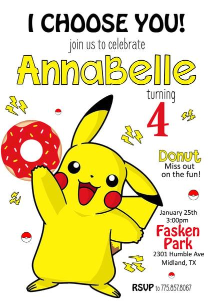 Image of Pikachu Donut Birthday