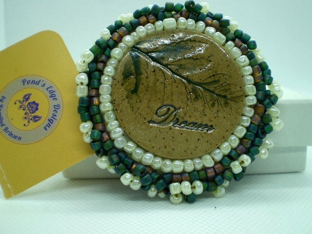 Bead Embroidered Pin - Dream