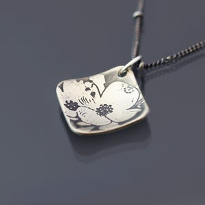 Image of Sterling Silver Dogwood Flowers Necklace