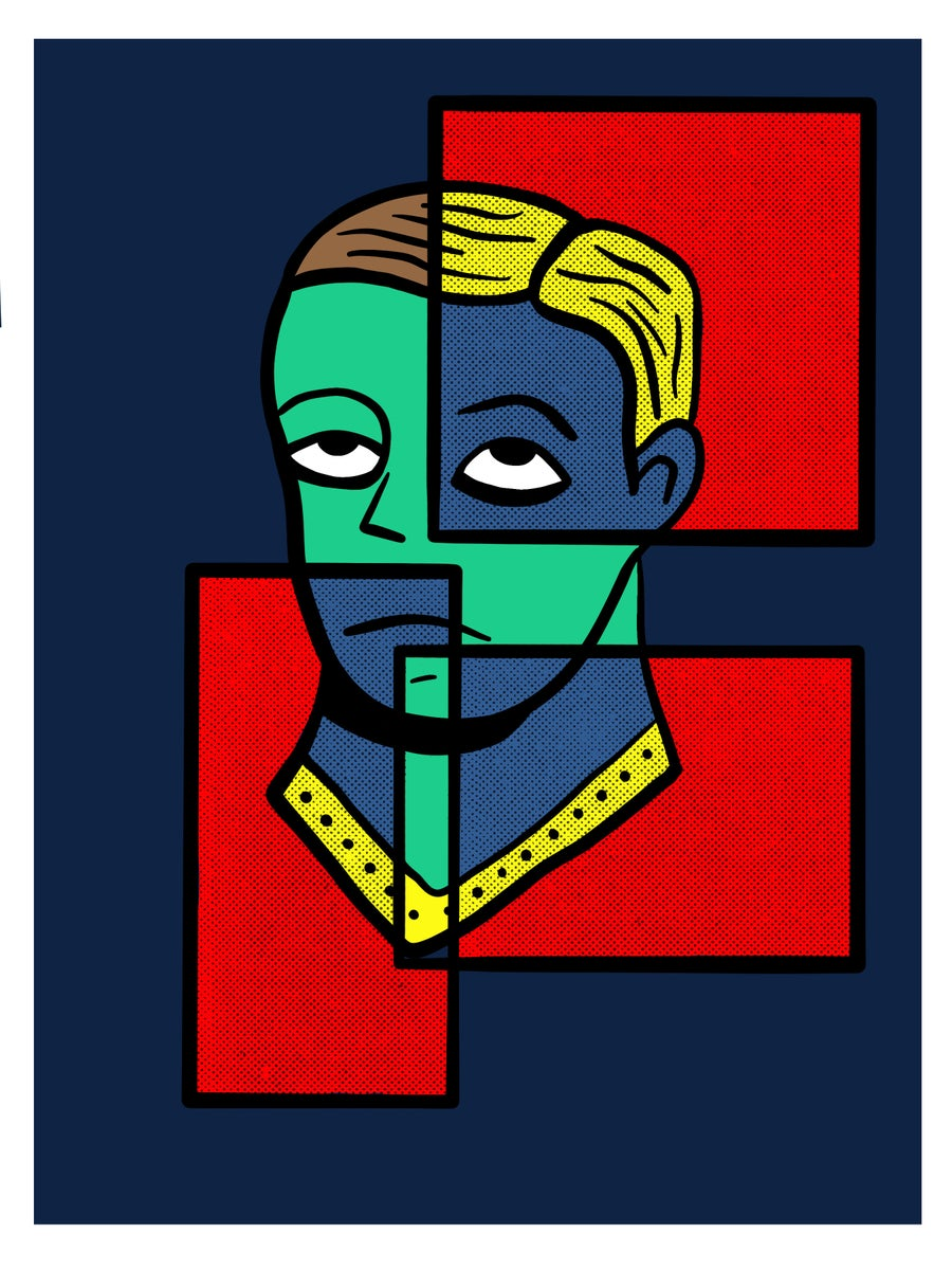 """Image of """"space boy wants out"""" limited run print"""