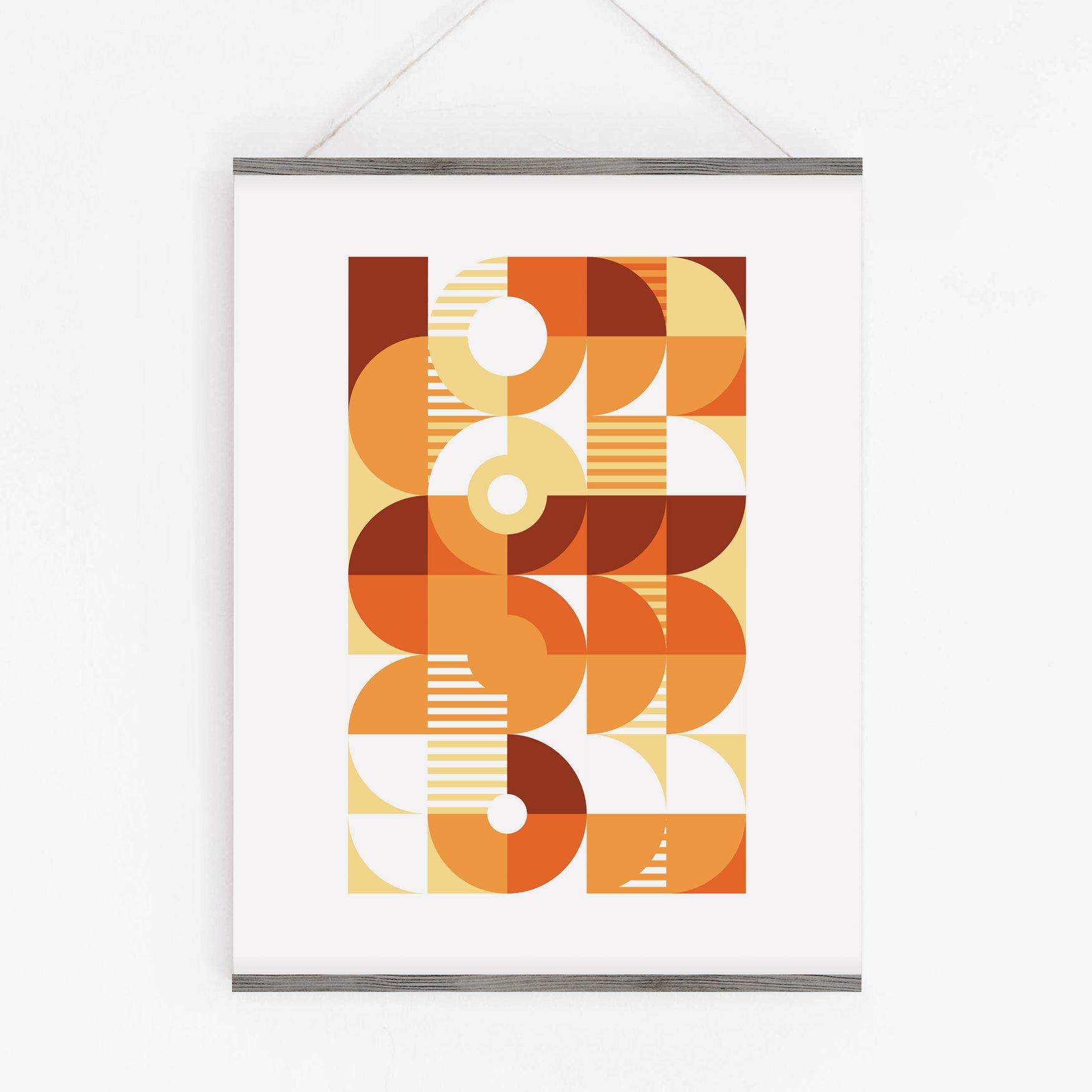 Image of Monochromatic Machine in Orange Art Print