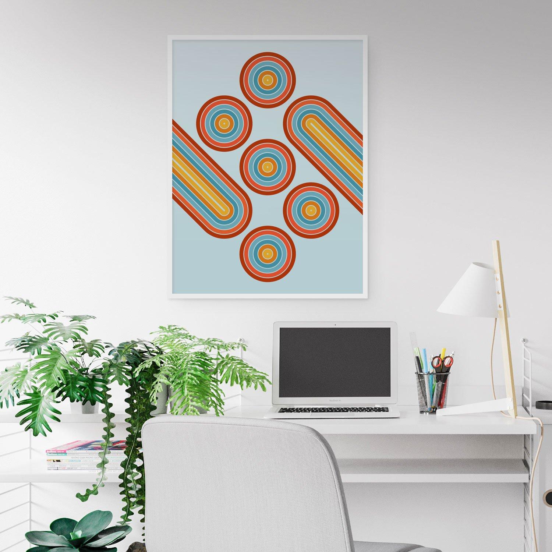 Image of Retro Motion Art Print
