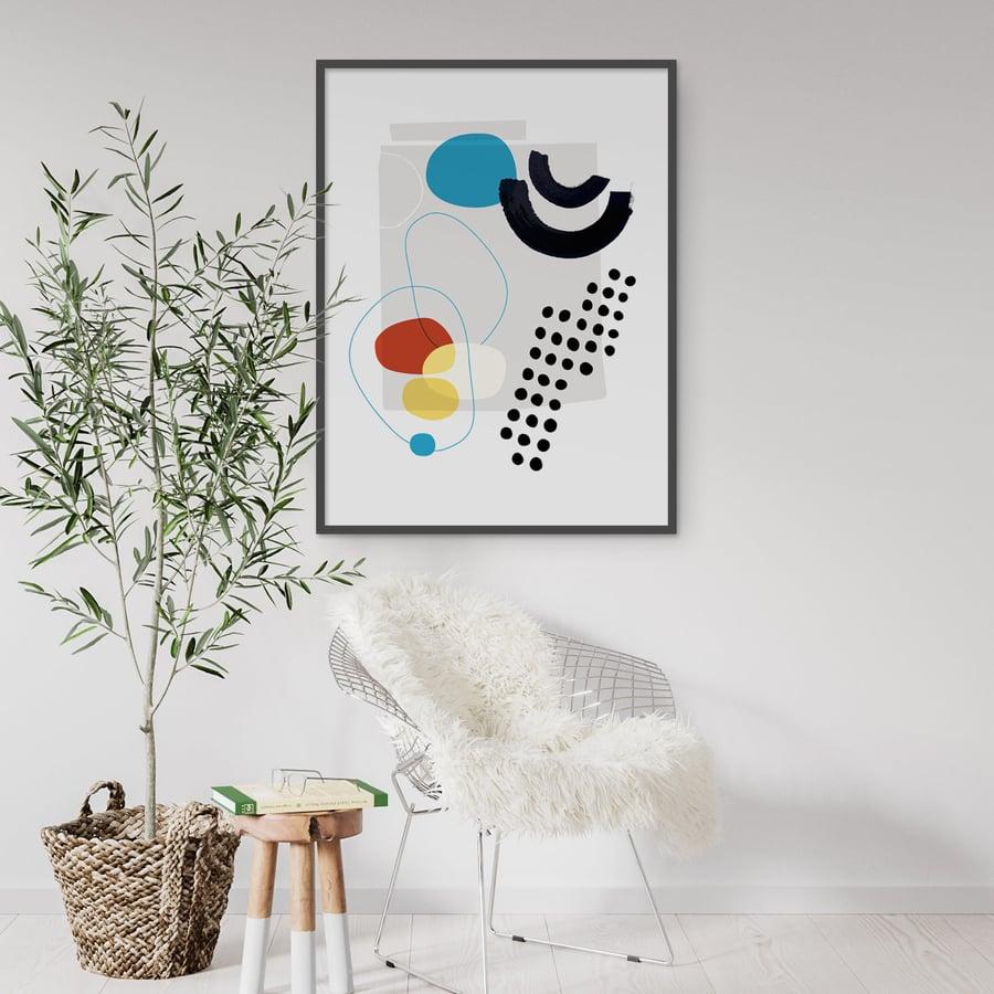 Image of Shape & Hue Series No. 6 Art Print