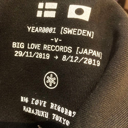Image of YEAR0001 x BIG LOVE RECORDS