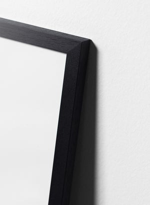 Image of Black painted oak frame