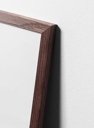 Image of Dark oak wood frame