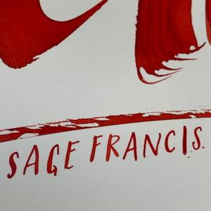 Inkvent Calendar / Print / Dec. 6th / Sage Francis