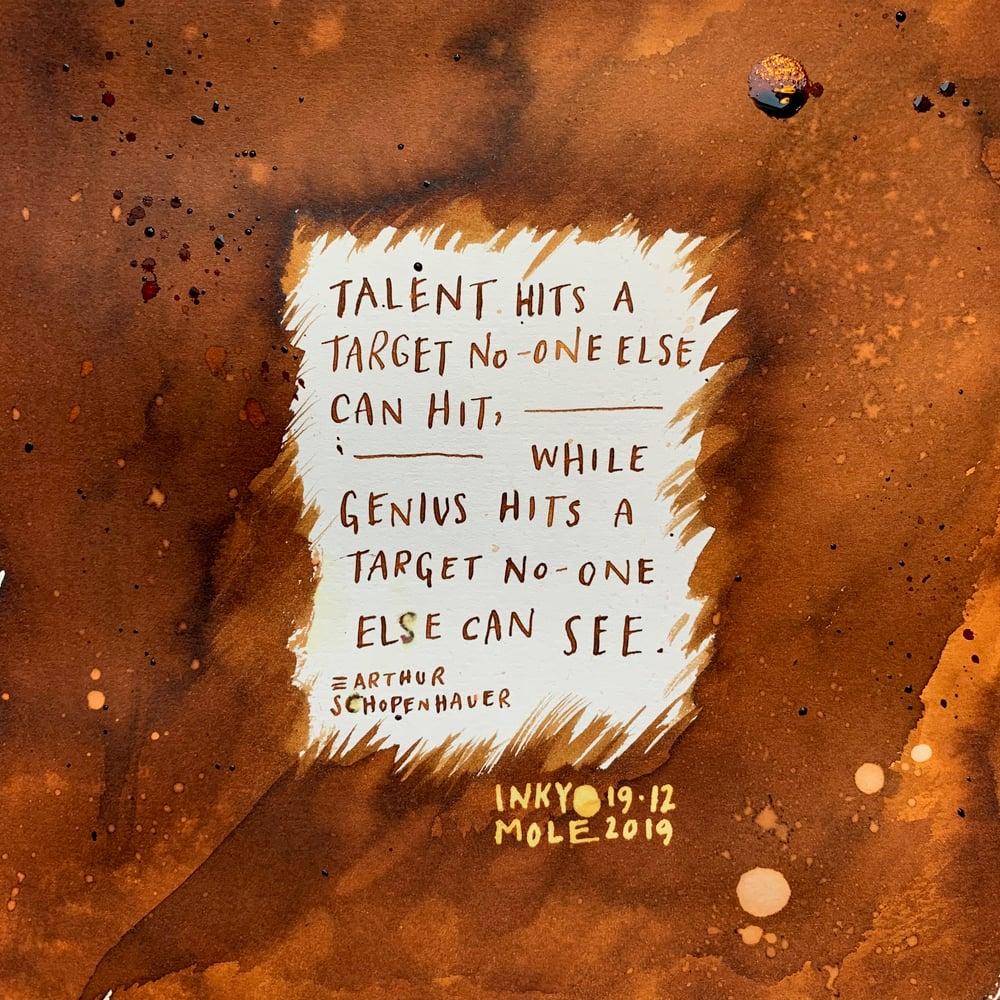 Image of Inkvent Calendar / Original Art / Dec. 19th / Talent\Genius