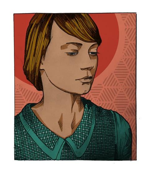 Image of Print on metal frame 'Mia'