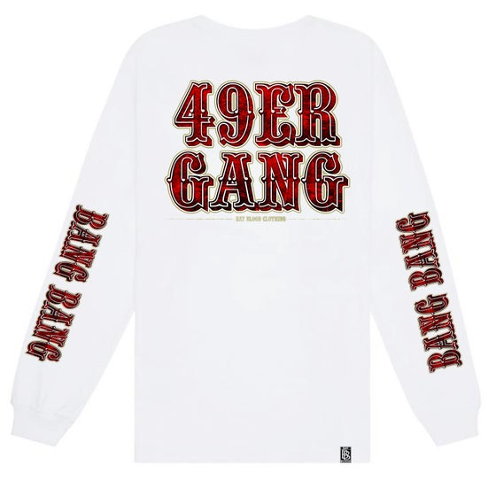 Image of 49ER GANG Long Sleeve (white)
