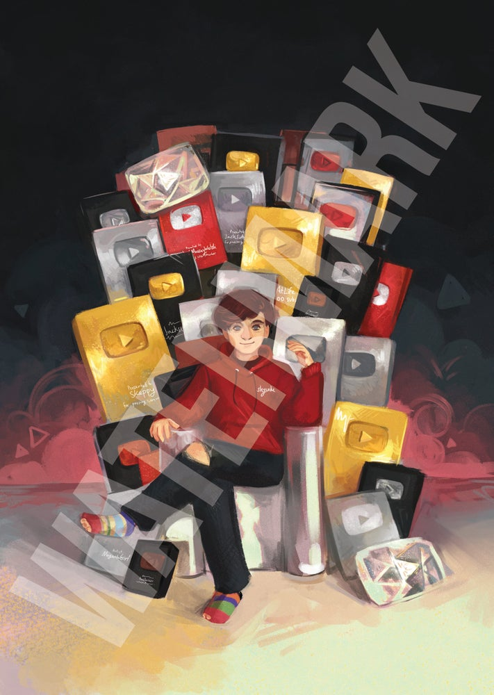Image of Jack's Play Button Throne & Wiki Ban Poster