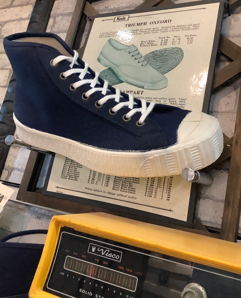 Image of Fern Czech army hi top navy sneaker shoes