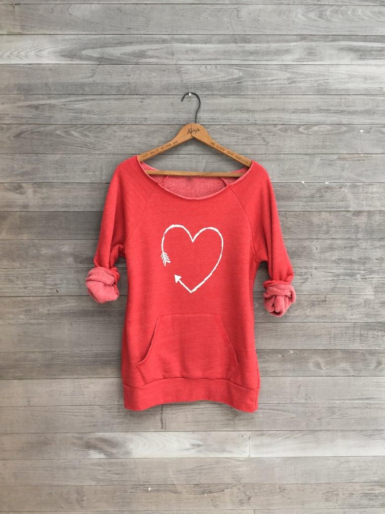 Image of Red Heart Sweatshirt
