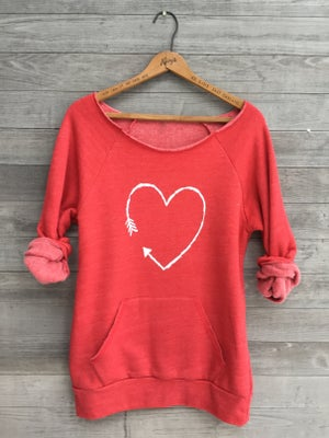 Image of Red Heart Sweatshirt