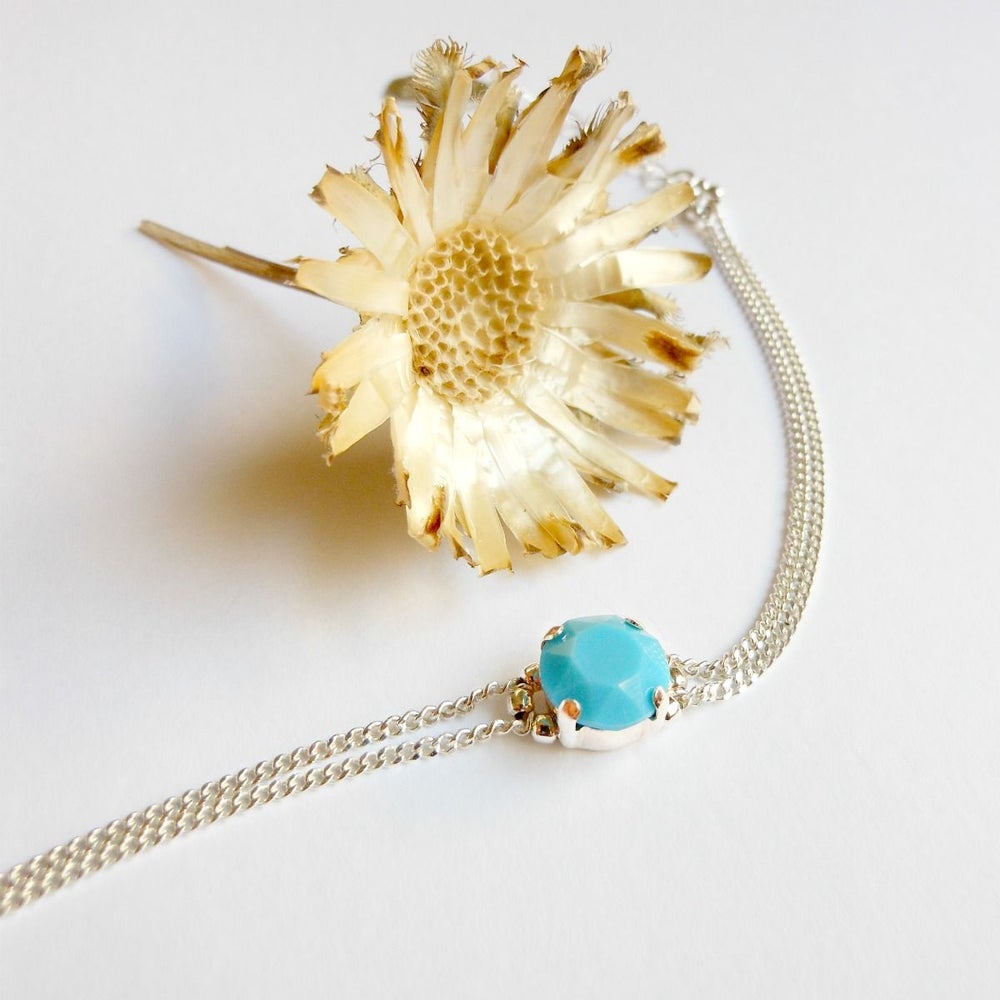"""Image of Soldes - Bracelet """"Cab"""" Turquoise - Taille : 15,5-17,5 cm"""
