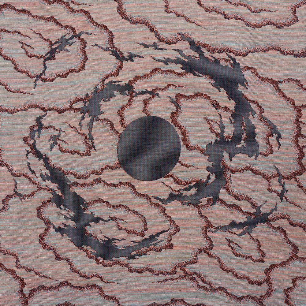 Image of Full Moon Spiral Jacquard Woven Blanket