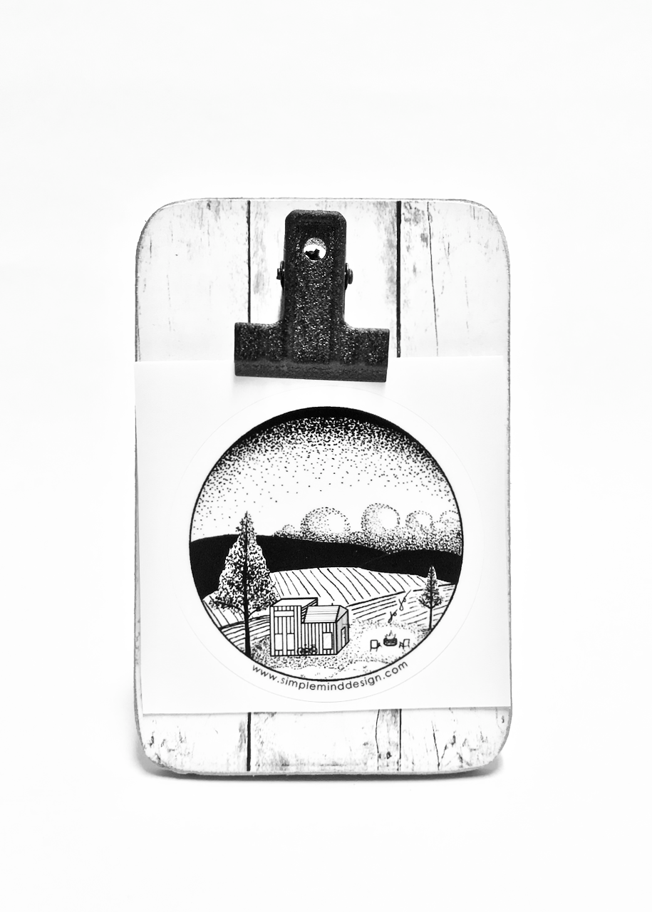 Image of Tiny House, Huge Heart Sticker