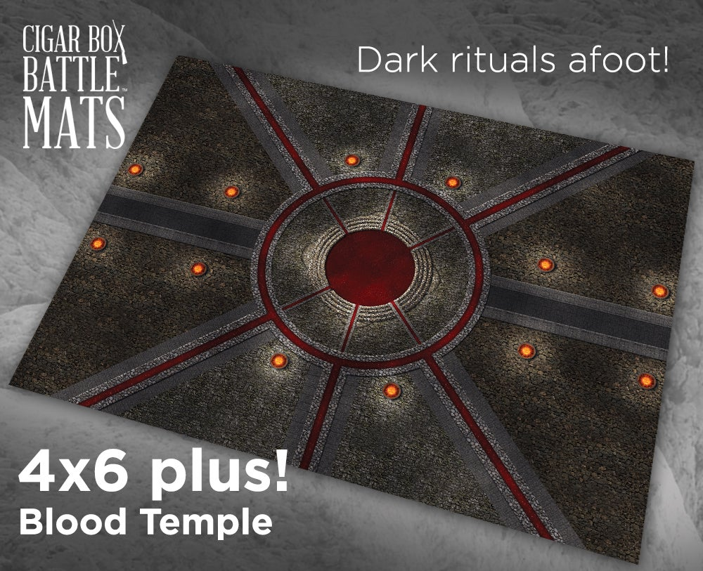 Image of Blood Temple -- 4' by 6' plus -- #860