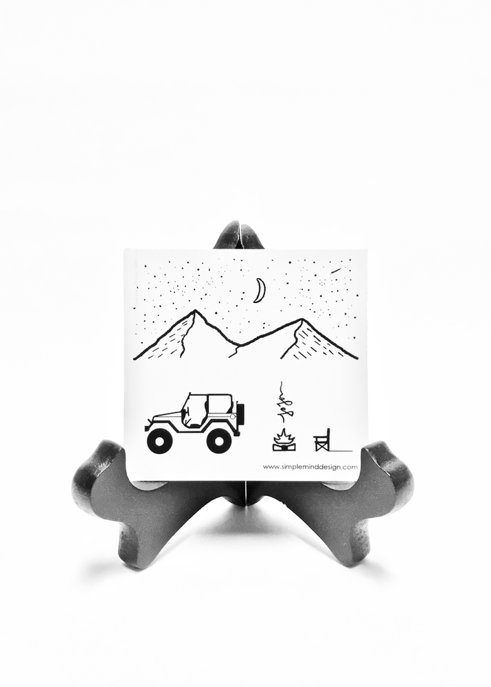 Image of Simple Jeep in the Mountains Magnet