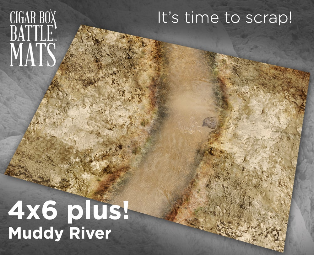 Image of Muddy River -- 4' by 6' plus -- #870
