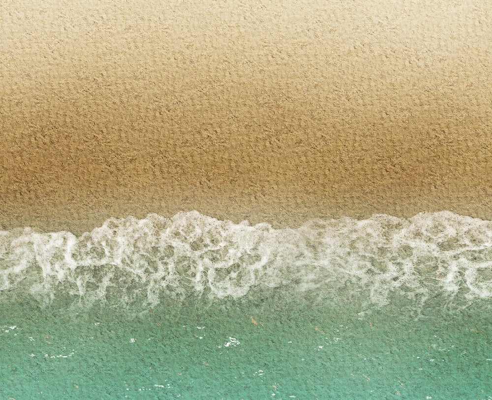 Image of Sicily Beach -- 4' x 6' plus -- #890