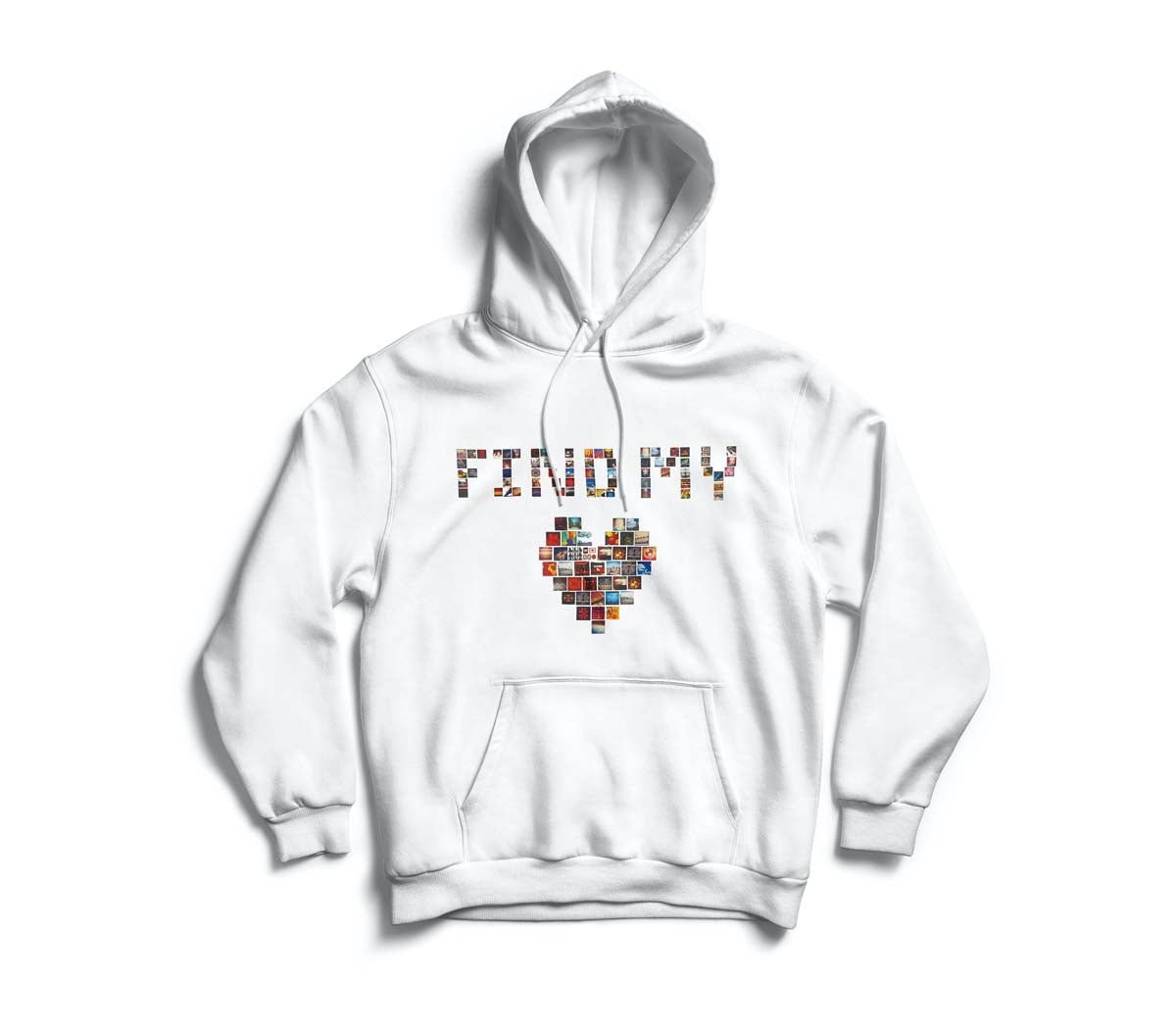 "Image of White ""Find My Love"" Hoodie"