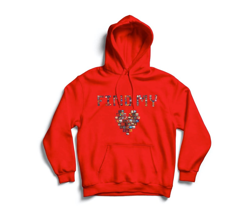 "Image of Red ""Find My Love"" hoodie"