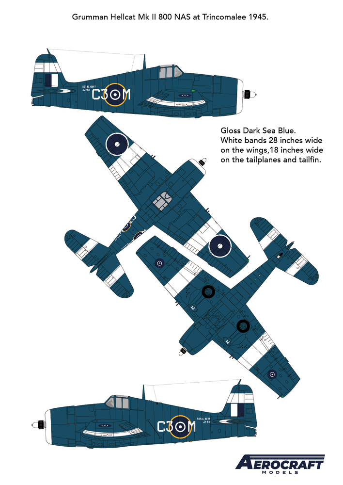 Image of Hellcat F6F-5 decal Royal Navy JZ931