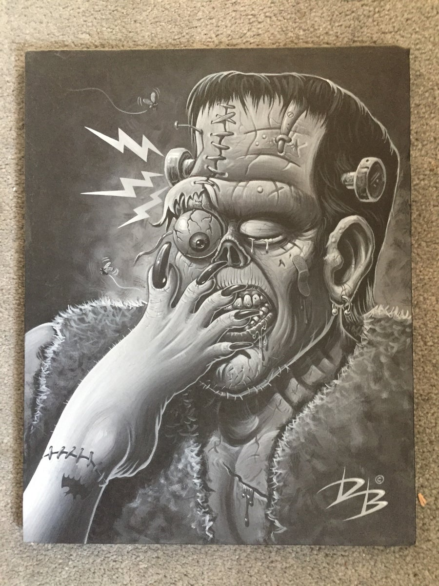Image of FRANKENFOOT painting by Dave Burke