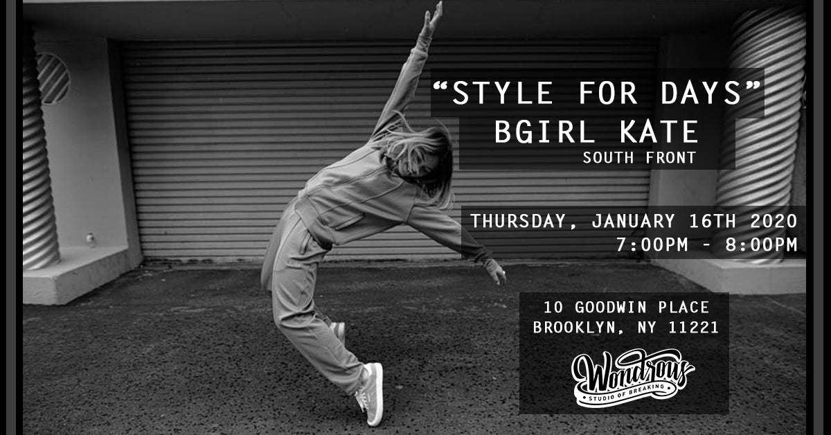 "Image of ""Style For Days' Bgirl Kate Workshop"