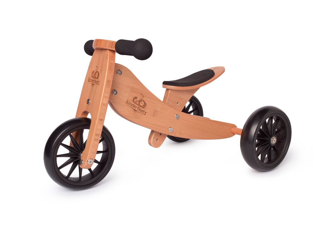 Image of 2-in-1 Tiny Tot Tricycle & Balance Bike Bamboo