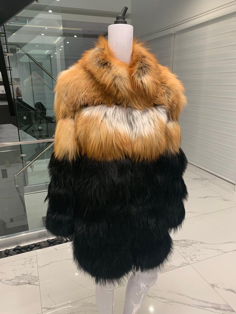Image of 3in1 Multi Fur Colour Coat (short)