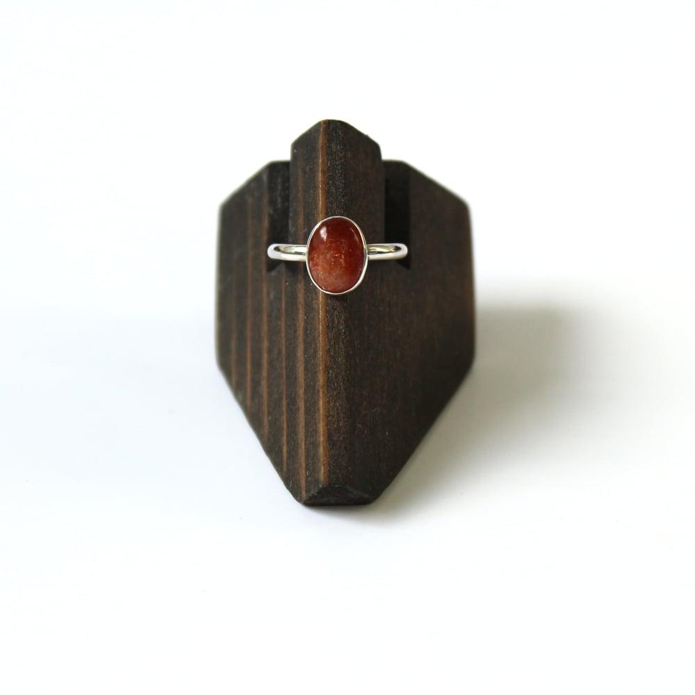 Oregon Sunstone Sterling Silver Ring - Size 5