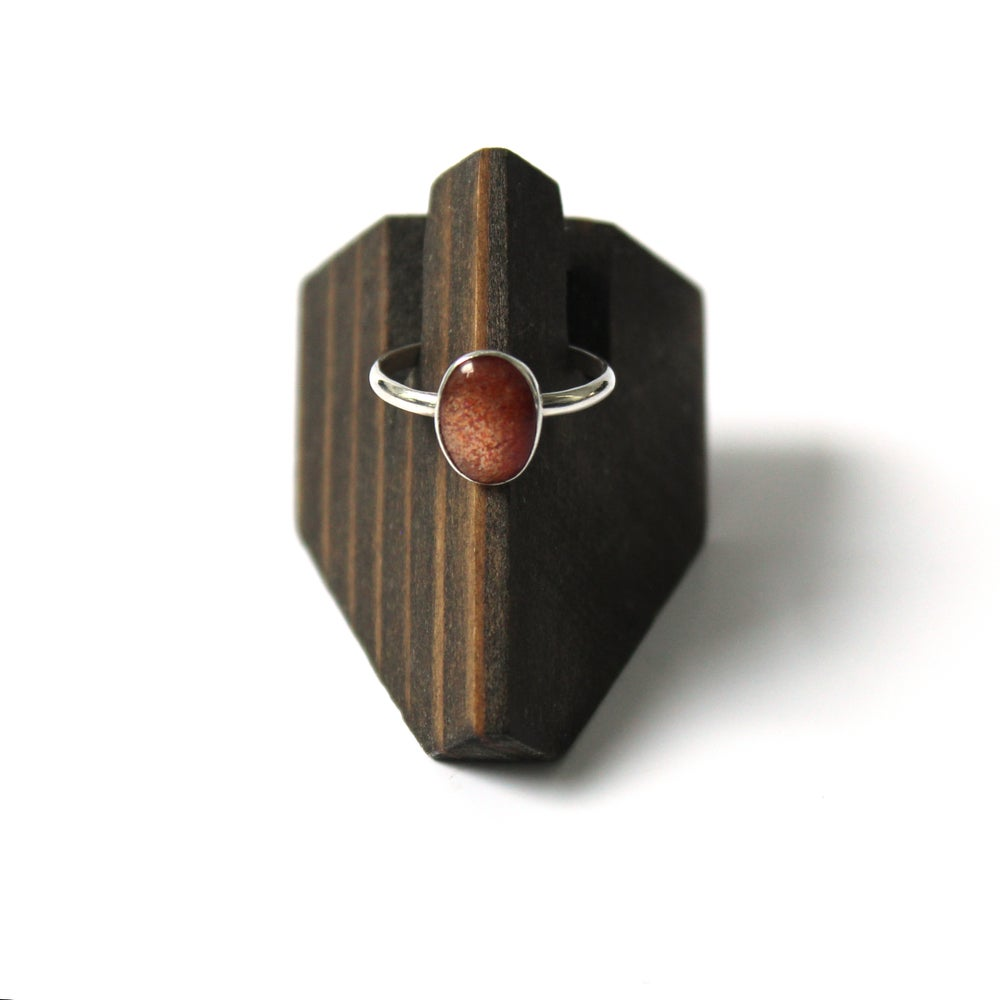 Oregon Sunstone Sterling Silver Ring - Size 7