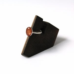 Image of Oregon Sunstone Sterling Silver Ring - Size 7