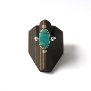Image of Cloud Mountain Turquoise Sterling Silver Ring - Size 7.5