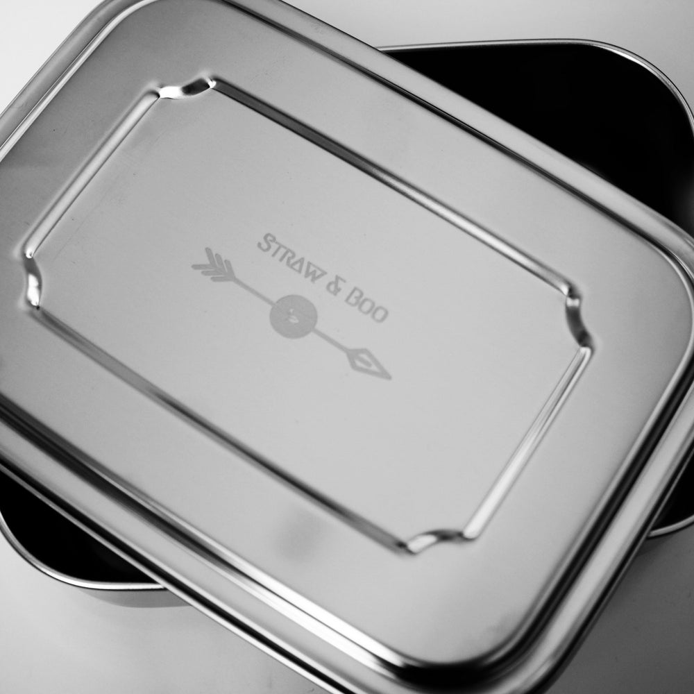 Image of Straw & Boo stainless steel lunch box