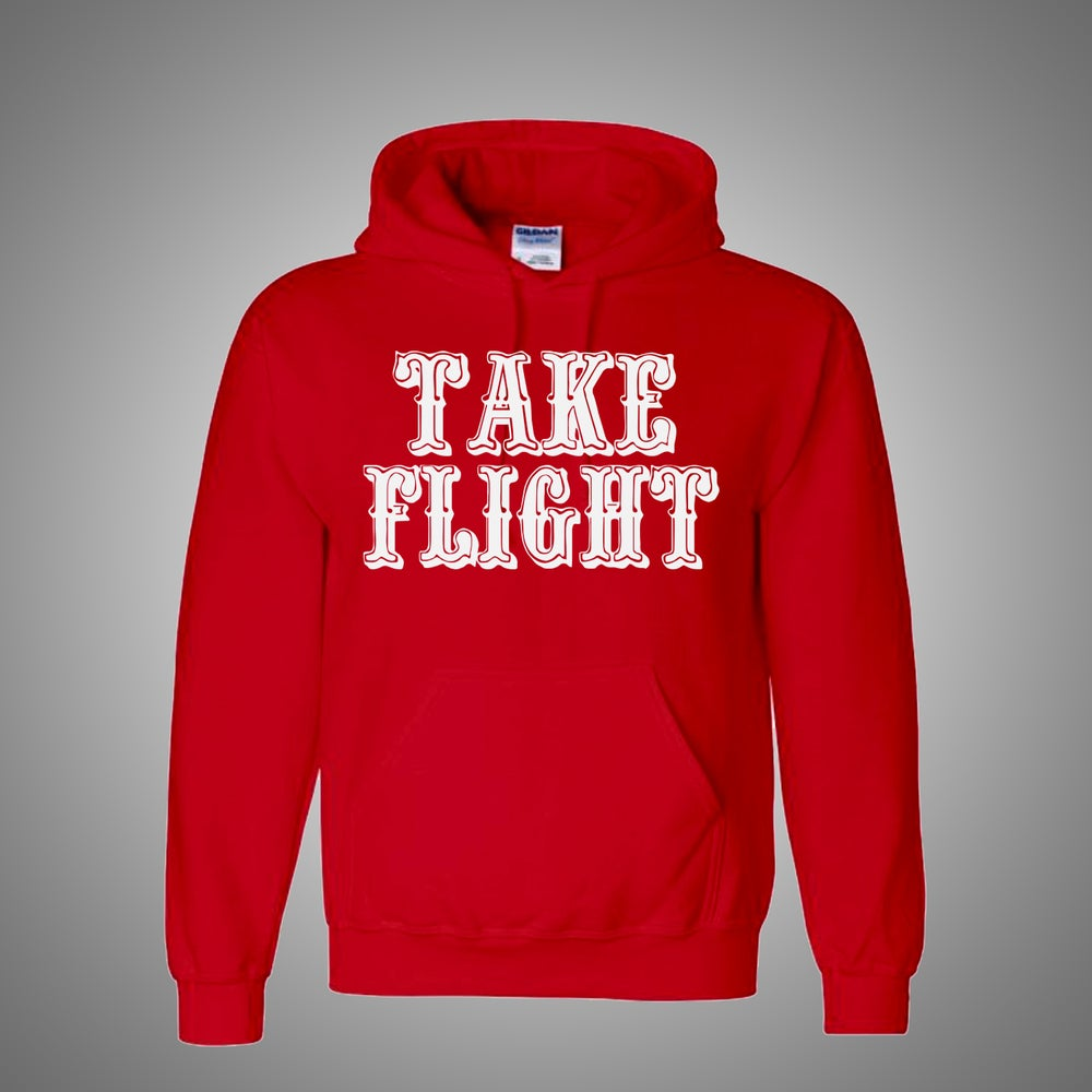 Image of Take Flight Red Hoodie