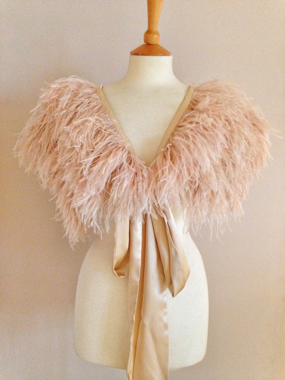 Image of Mitsou ostrich feather capelet, choice of colours