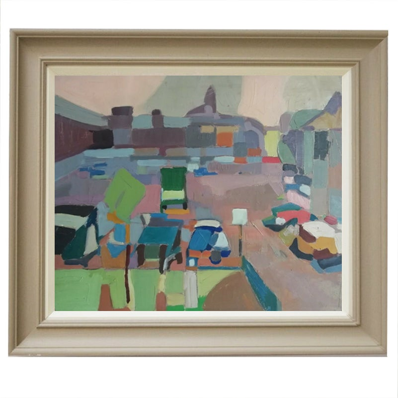 Image of Mid-Century, French Abstract Painting
