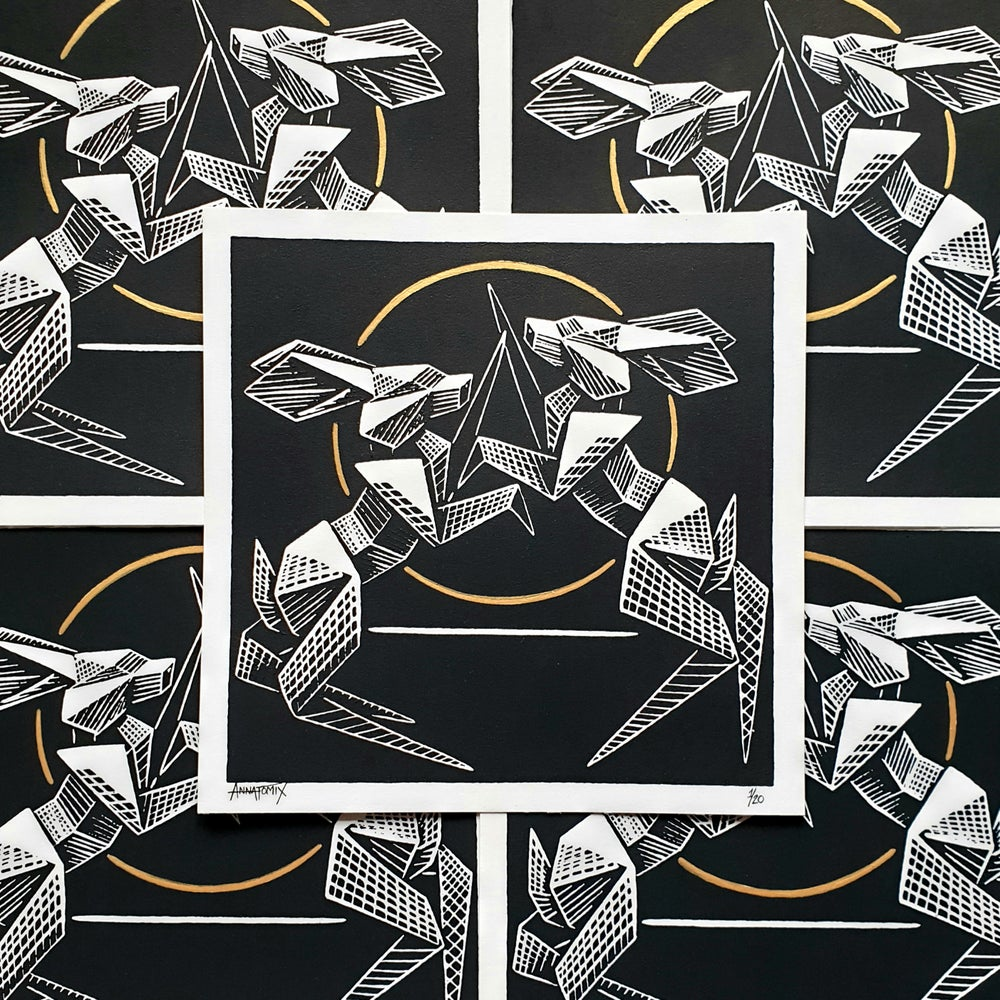 """Image of """"Endless"""" limited edition block print"""