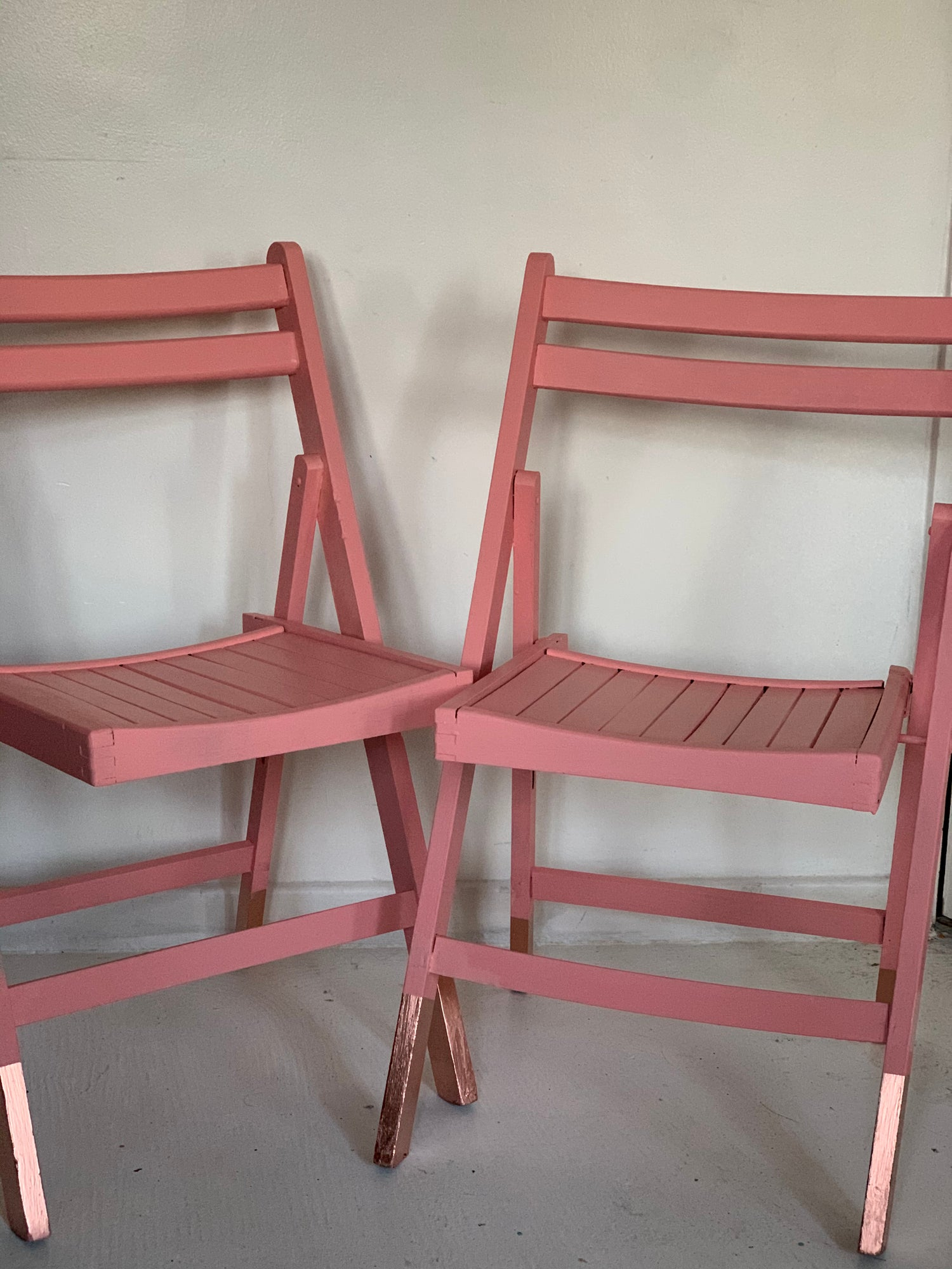 Image of Cherry wood foldable chairs