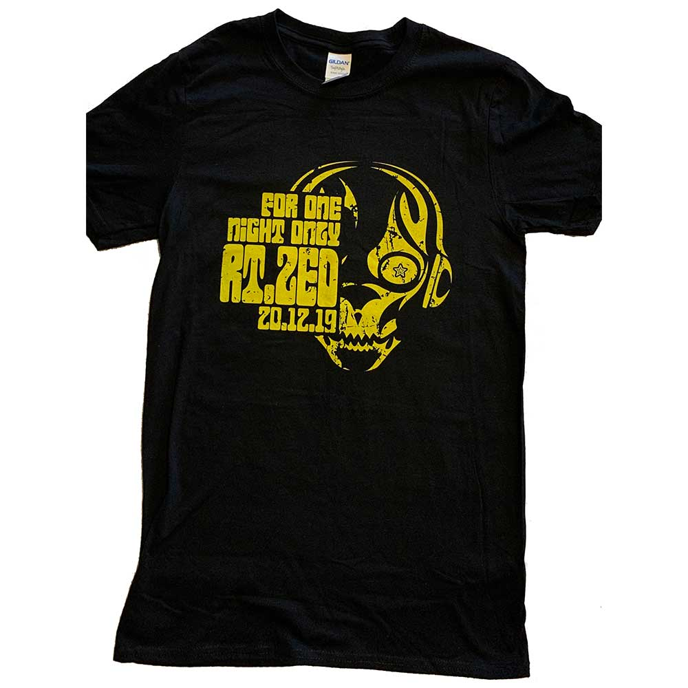 Image of 'FOR ONE NIGHT ONLY' T-SHIRT (YELLOW LOGO)