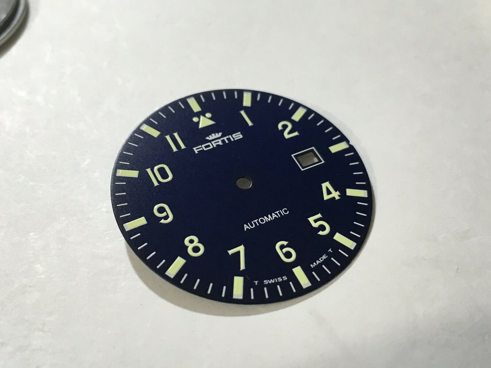 Image of  FORTIS FLIEGER GENTS WATCH DIAL,WITH DATE,BLUE.