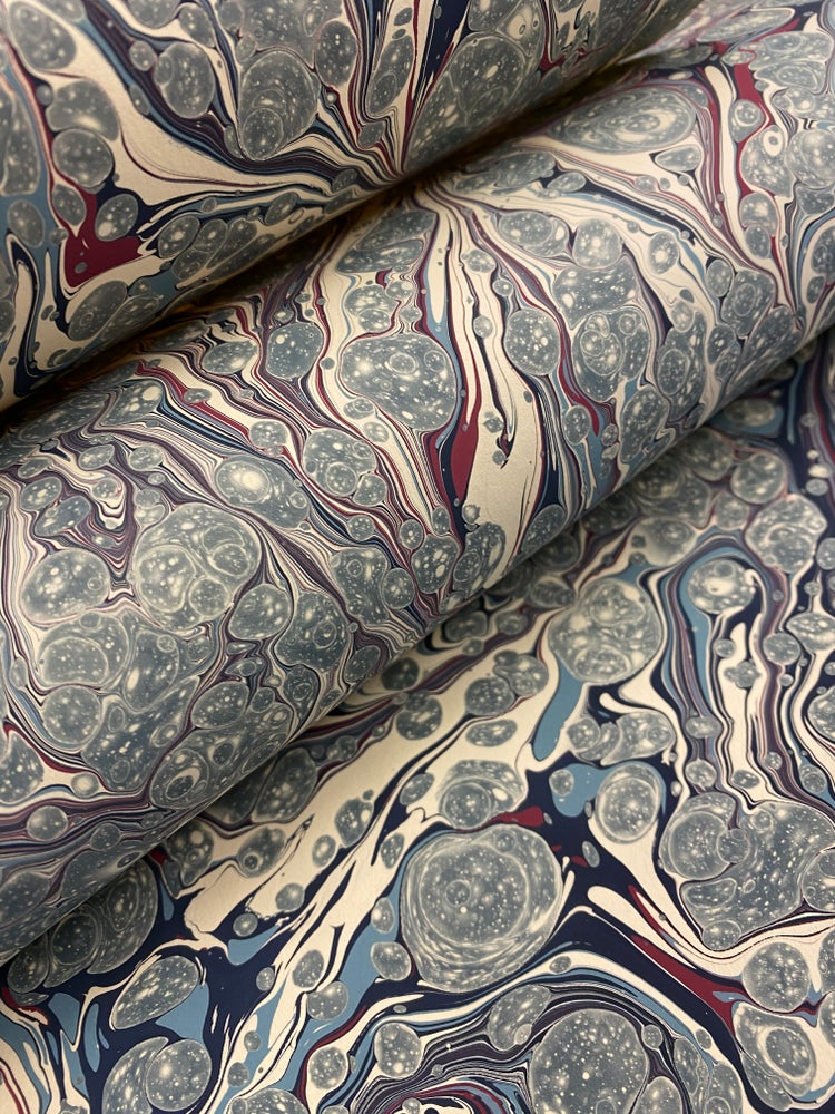 Image of Marbled Paper #29 'Blue-Grey Stormont Spot'