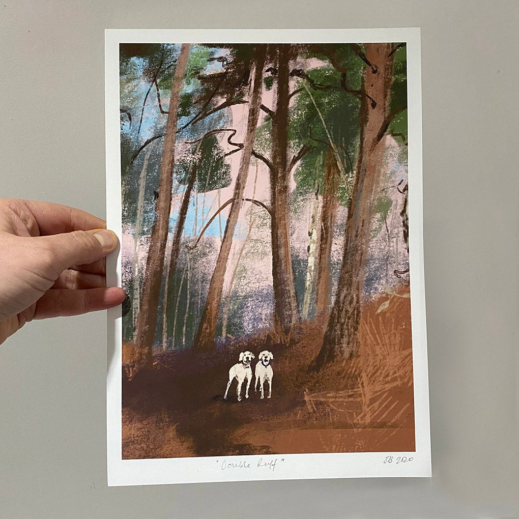 Image of 'Double Rruff' signed archive quality print (A4 or A3)
