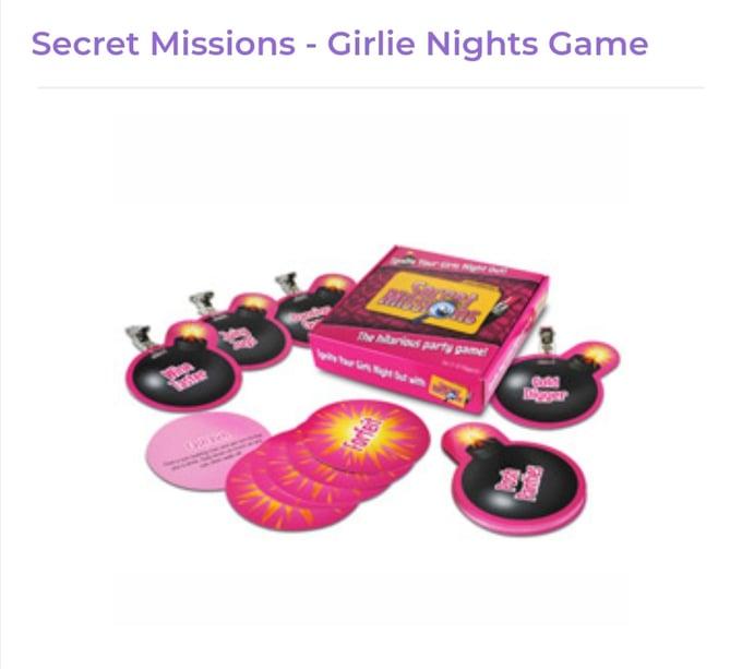 Image of Girlie Nights Game Secret Mission